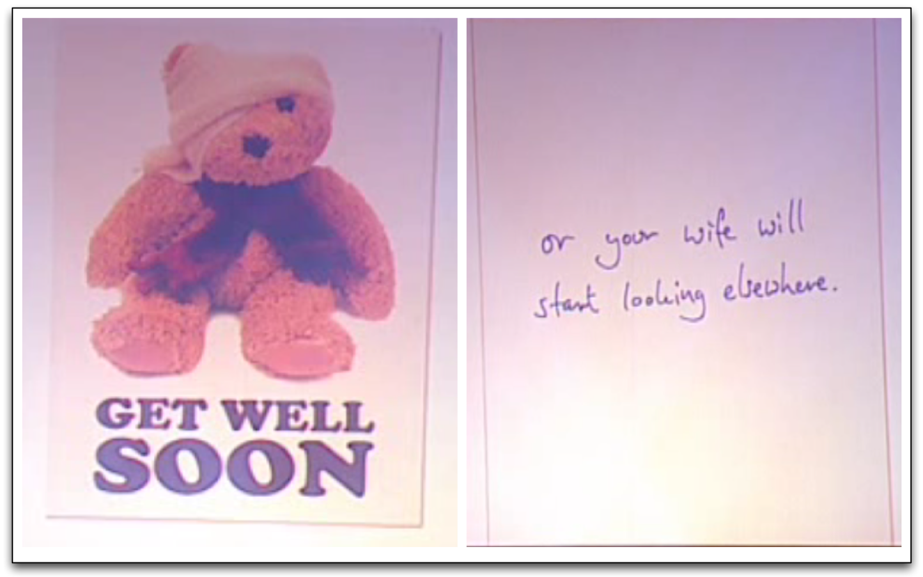 get well soon but what to write in the card christian wulff